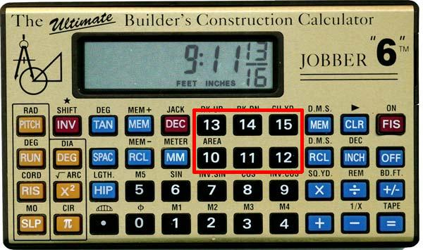 Jobber 6 construction calculator showing metric conversion